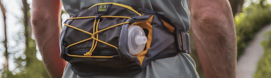 a hiker wearing a hydration waistpack