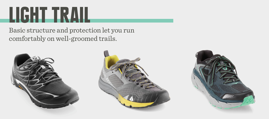 example of fitnessinf's light trail trail running shoes