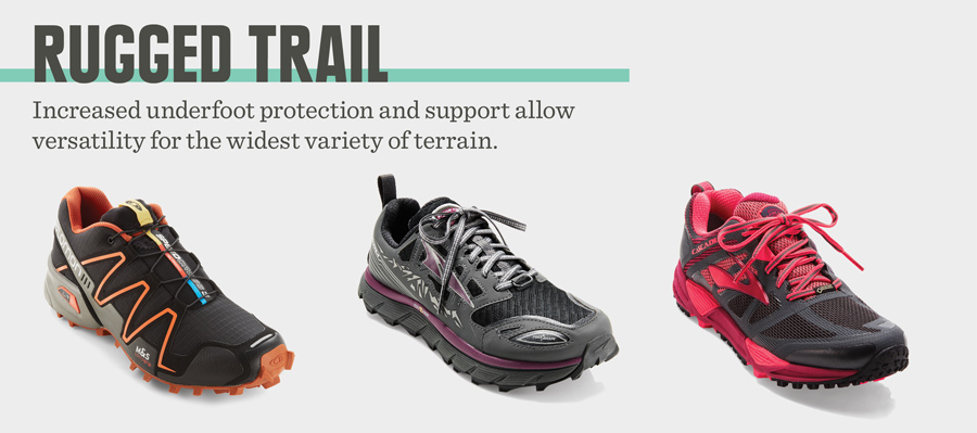 example of fitnessinf's rugged trail trail running shoes