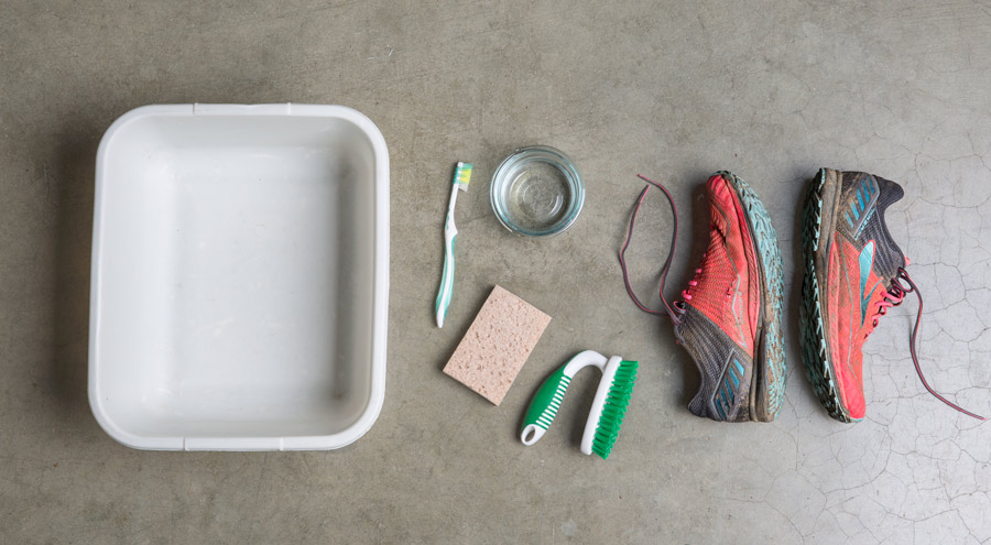 recommended supplies for cleaning your running shoes