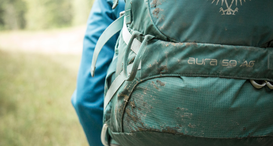 a dirty backcountry backpack