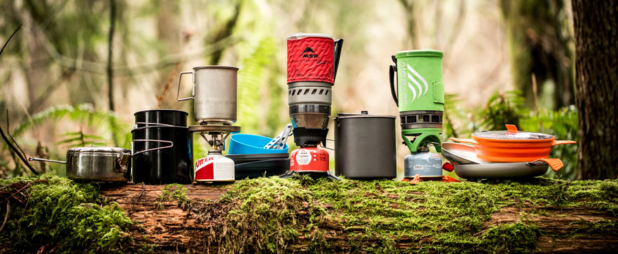 a wide selection of backpacking stoves