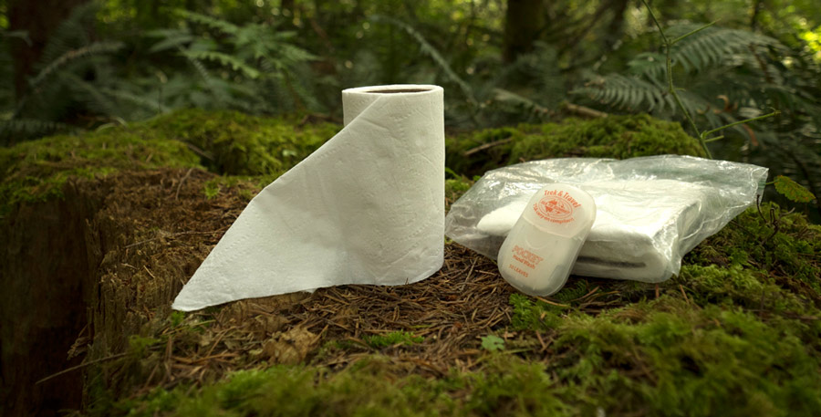 toilet paper and hand wash in the backcountry