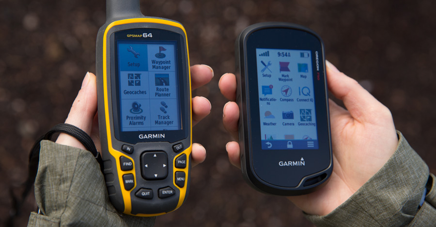 fitnessinf Expert Advice: How to Choose and Use a GPS - GPS Buying Made Easy - two different handheld GPS devices held in hand