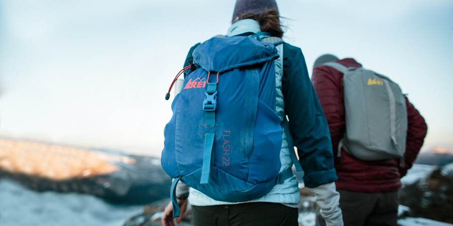 a hikers daypack while out on the trail